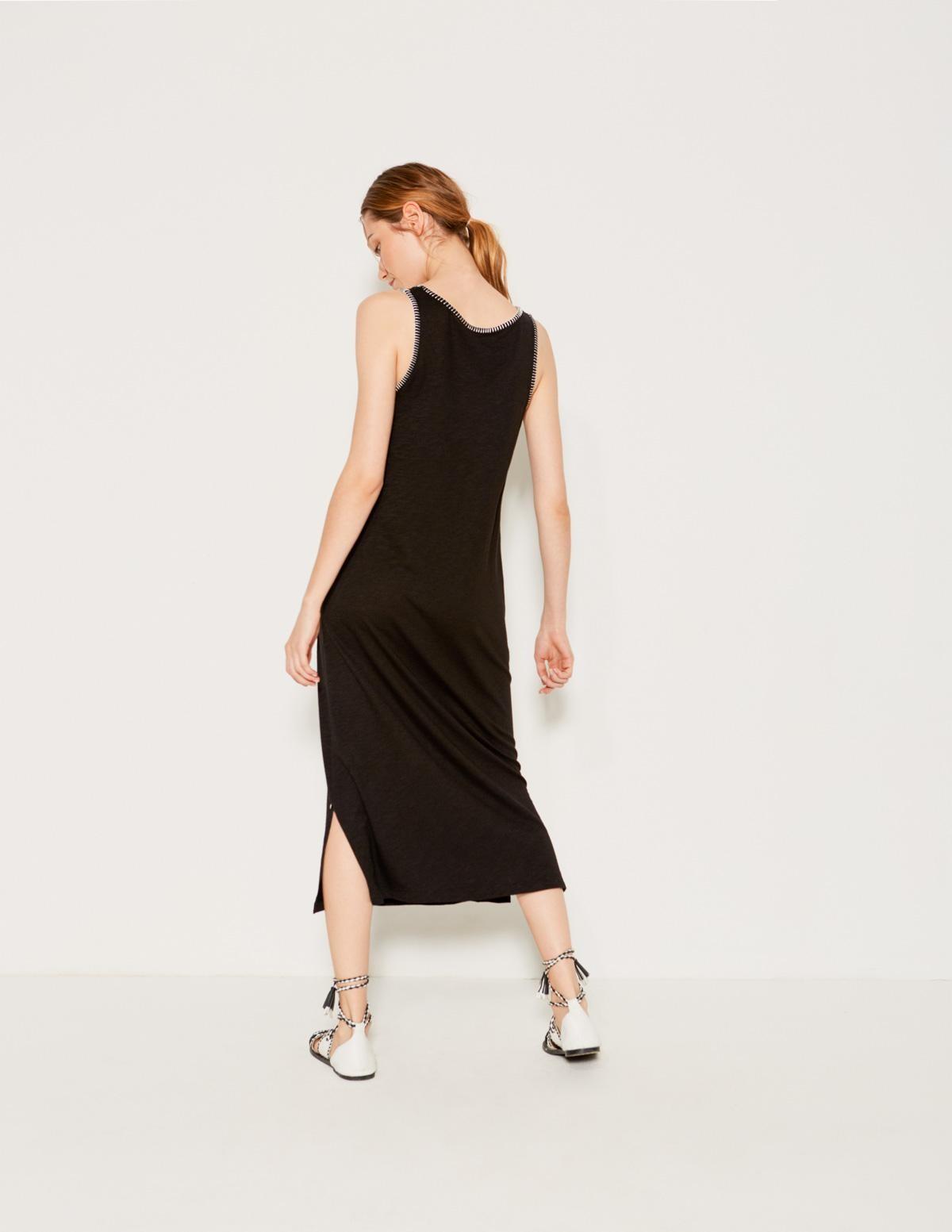Vestido pespunte contraste - Ítem2