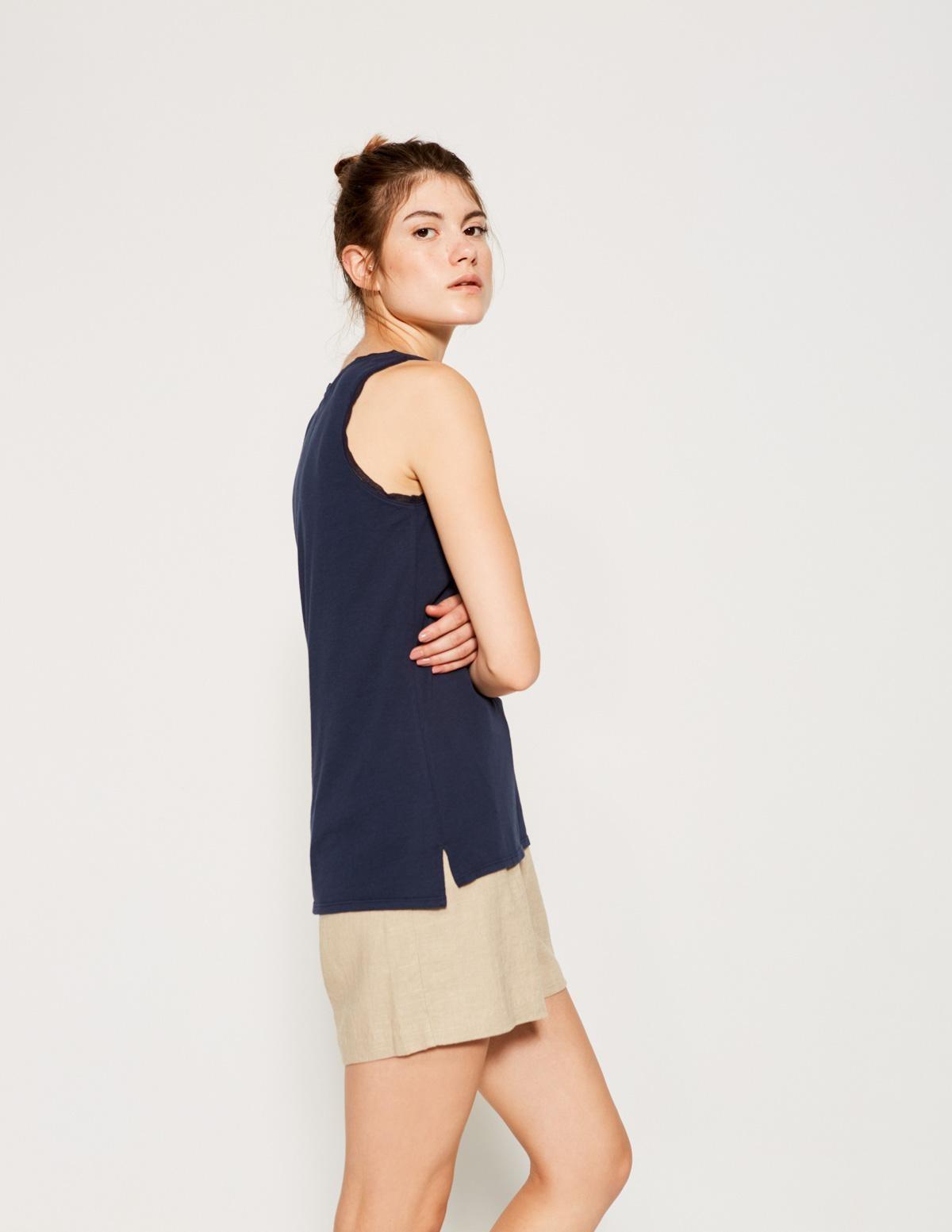 Camiseta básica puntilla - Ítem1