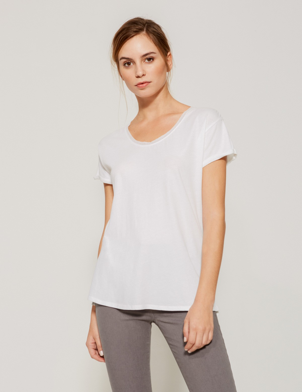 Camiseta básica puntilla