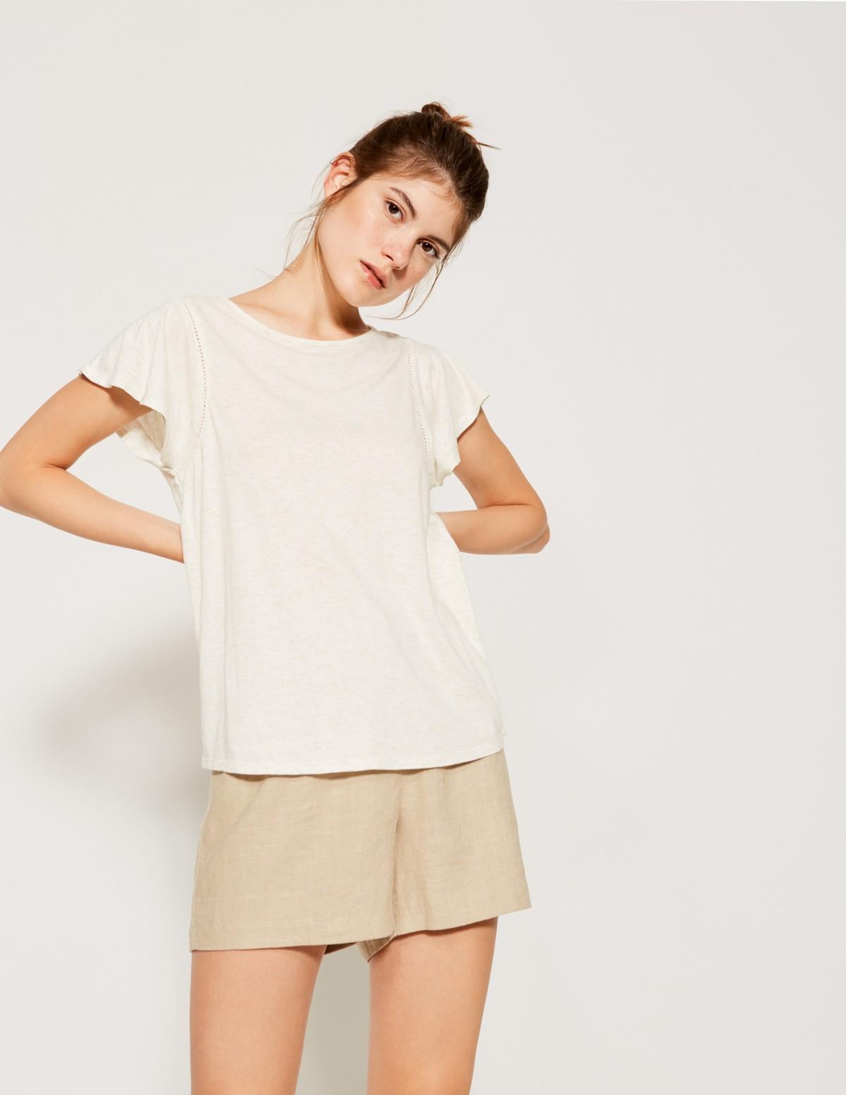 Camiseta melange brillos