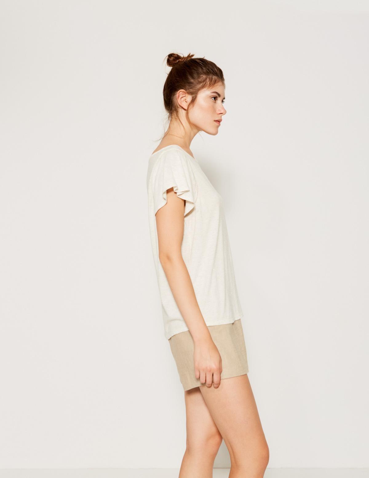 Camiseta melange brillos - Ítem1