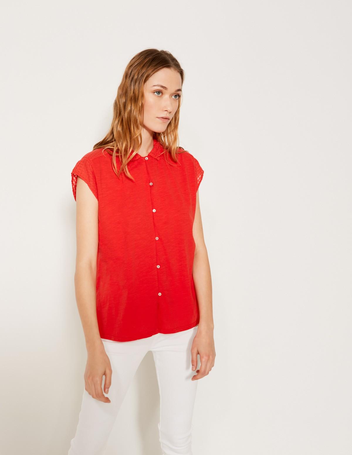 Camisa canesú texturado