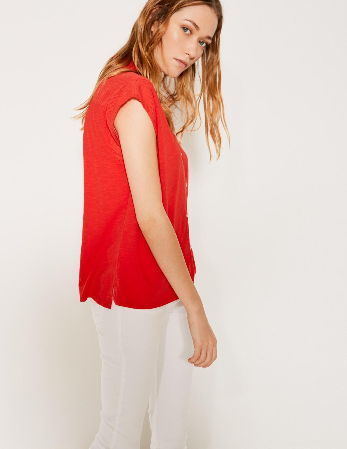 Camisa canesú texturado - Ítem1