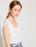 Camiseta puntilla plisada - Ítem