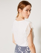 Camiseta puntilla plisada - Ítem2