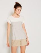 Camiseta rayas y puntilla - Ítem