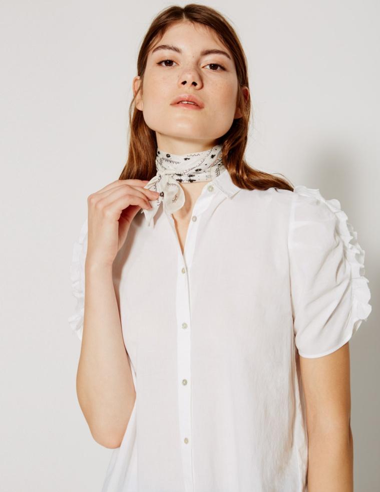 Camisa manga fruncida