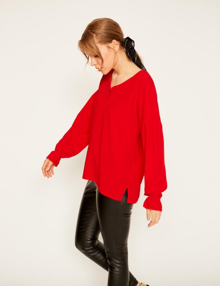 Flowing V-neck blouse