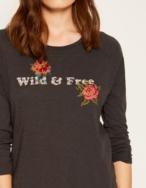 Camiseta flores punto de cruz - Ítem2