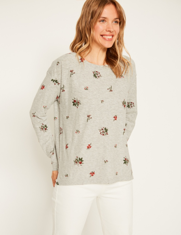 Camiseta flamé flores