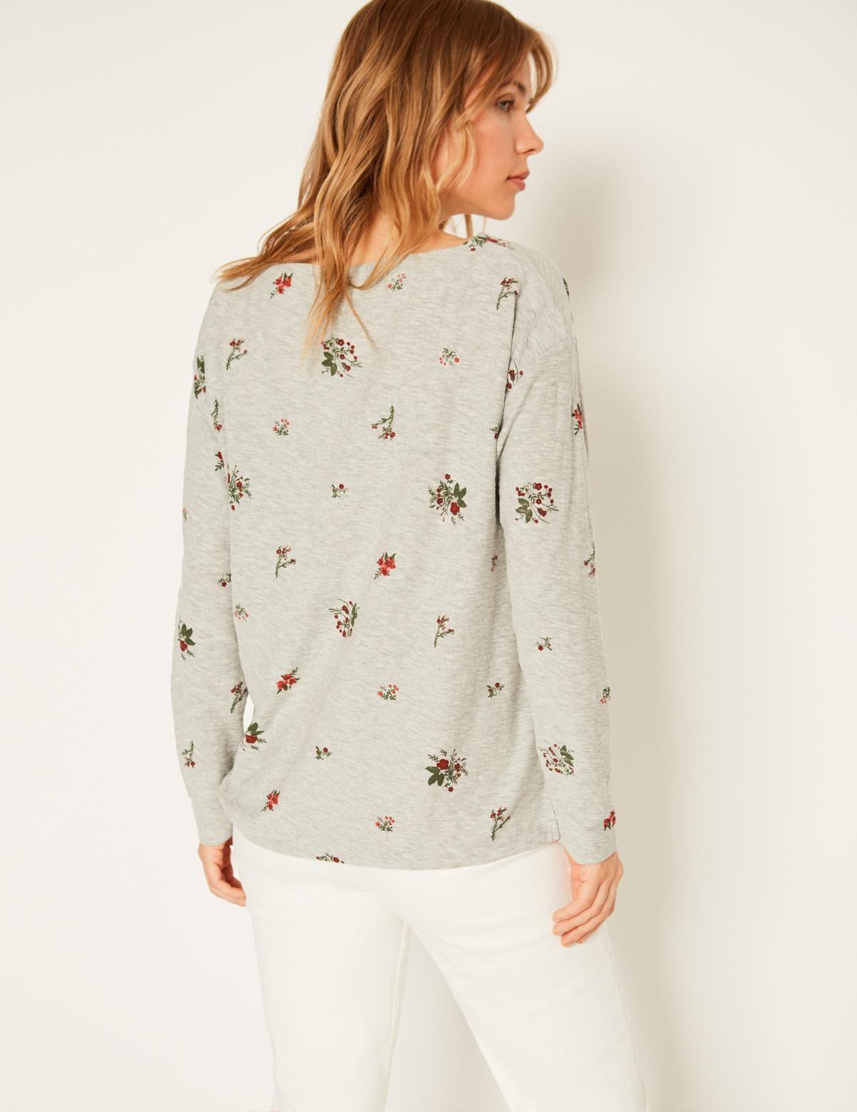 Camiseta flamé flores - Ítem2