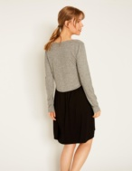 Vestido tejido combinado - Ítem1