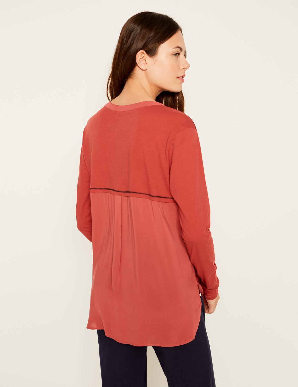 Camiseta tejido combinado - Ítem1
