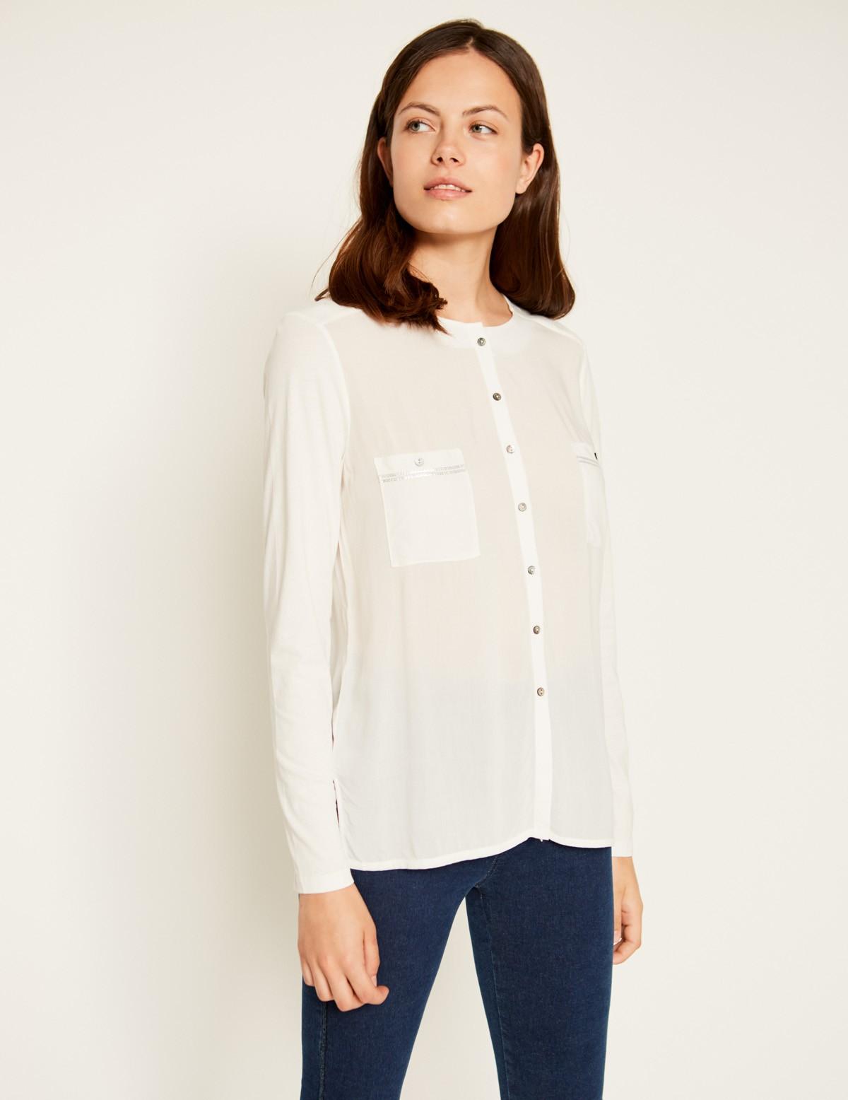 Camisa bimateria lentejuelas