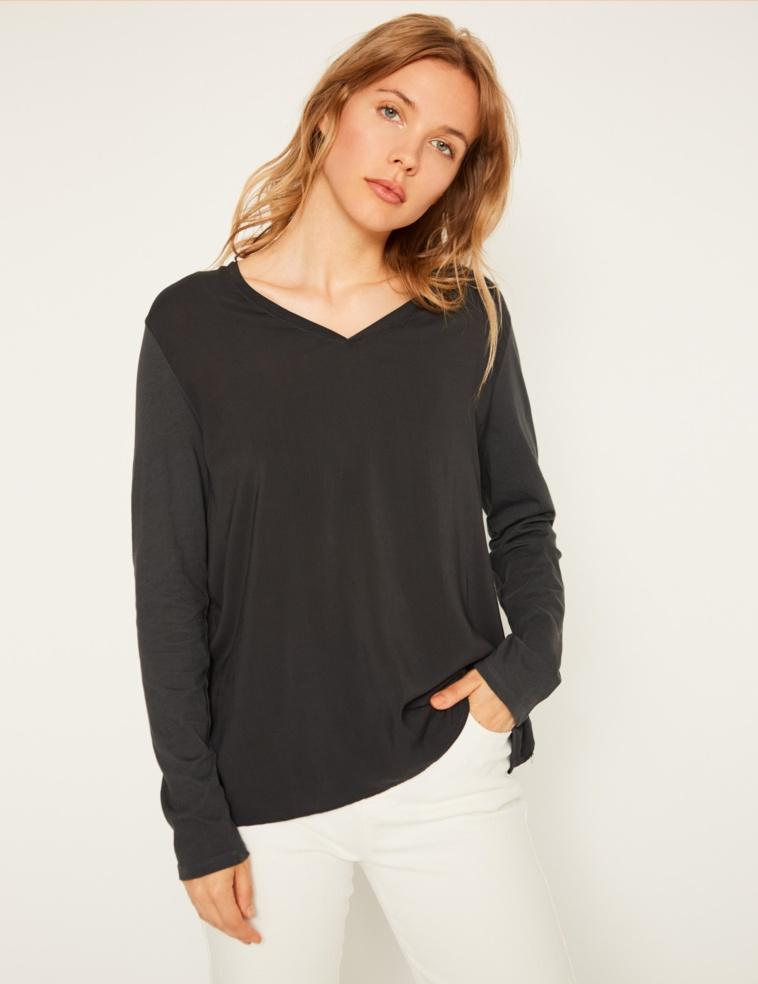 2 fabrics T-shirt