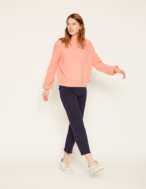 Soft jumper with pointelles