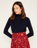 Frilled collar sweater