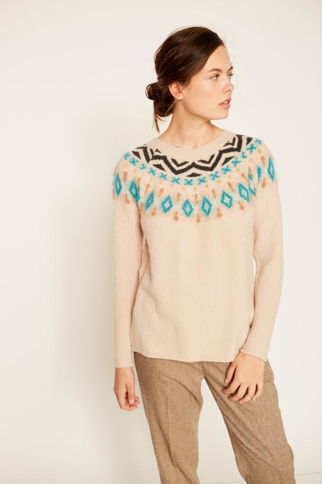 Fantasy jacquard sweater