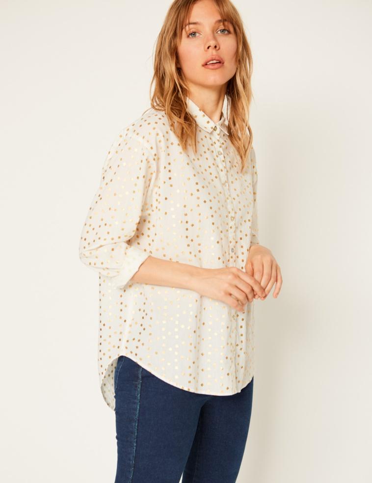 Foil print shirt
