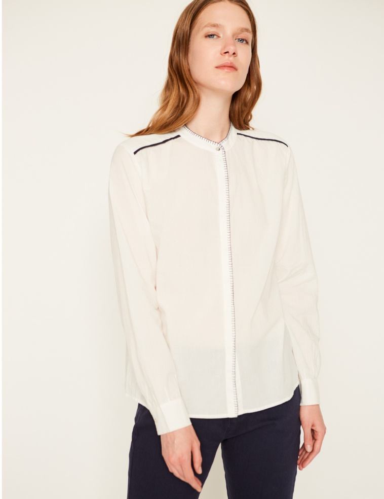 Contrast stitching shirt