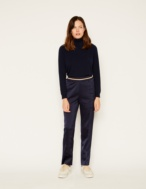 Metallic elastic trousers