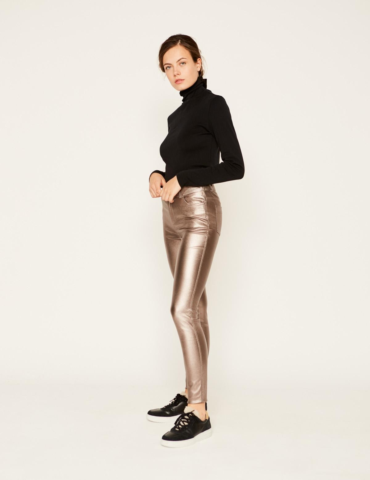 Pantalón pitillo metalizado - Ítem1