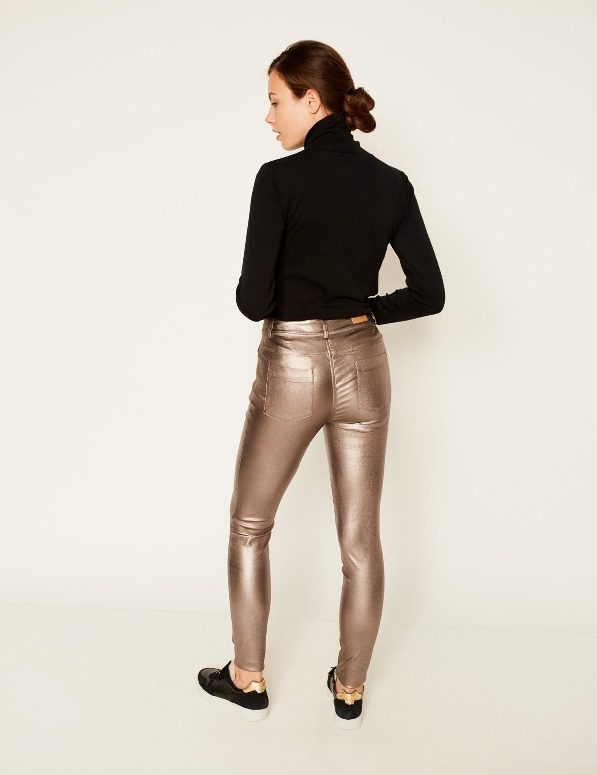 Pantalón pitillo metalizado - Ítem2