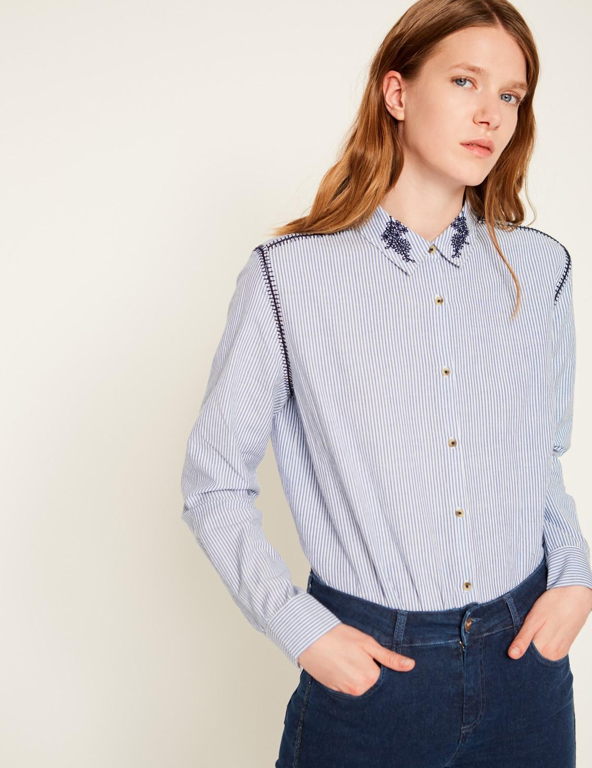 Camisa detalle bordados