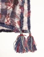 Pañuelo vichy y flores - Ítem1