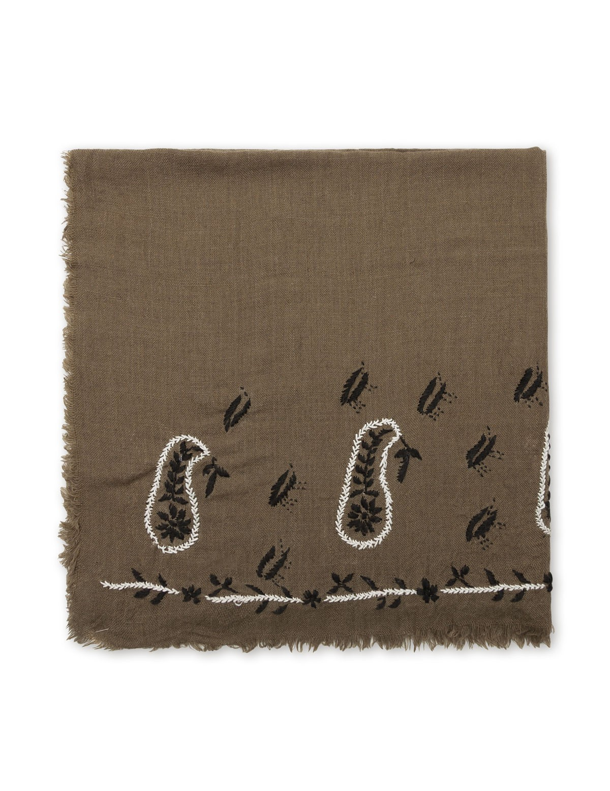 Pañuelo lana bordado