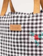 Bolso shopper flores bordadas - Ítem1