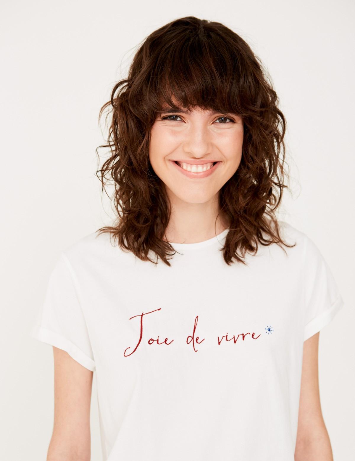 Camiseta bordada algodón orgánico