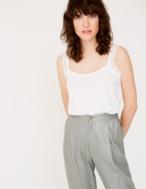 Camiseta tirantes puntilla algodón orgánico - Ítem