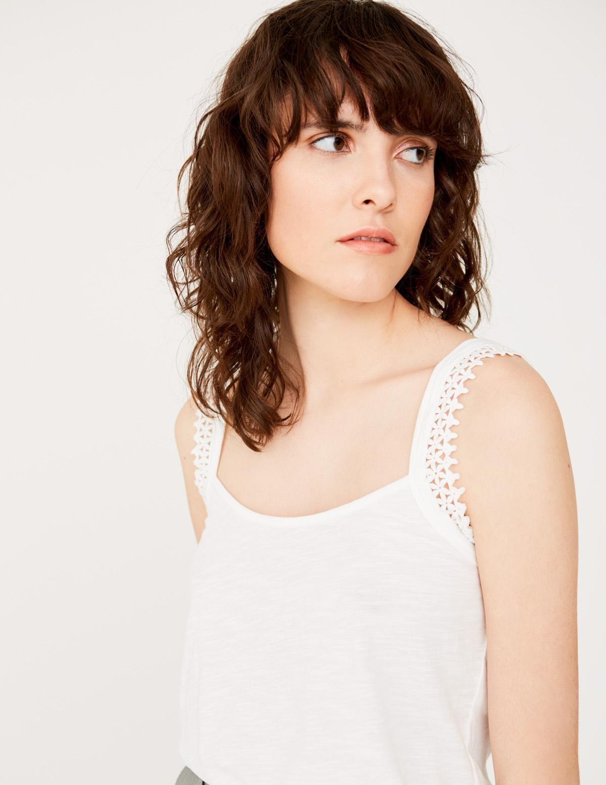 Camiseta tirantes puntilla algodón orgánico - Ítem1