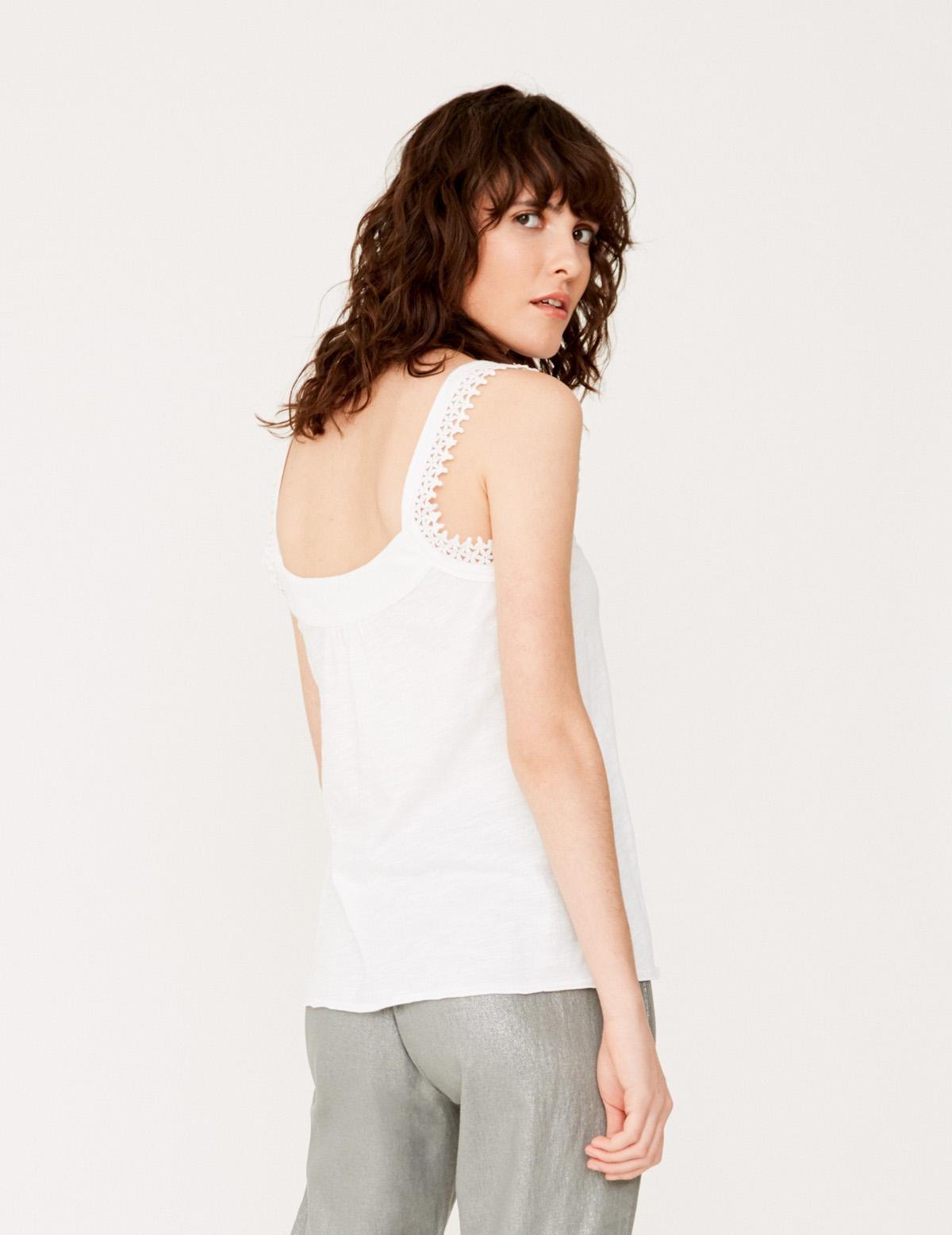 Camiseta tirantes puntilla algodón orgánico - Ítem2