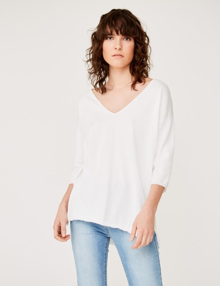 Long organic cotton sweater