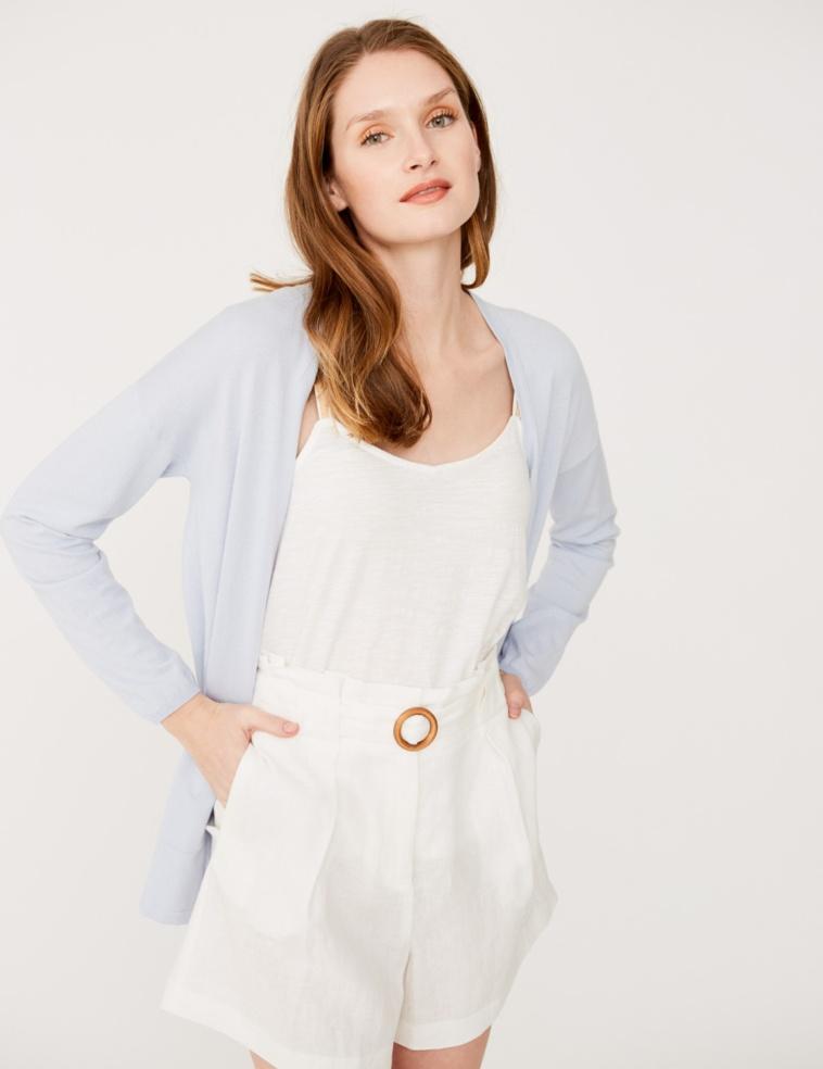Long organic cotton cardigan