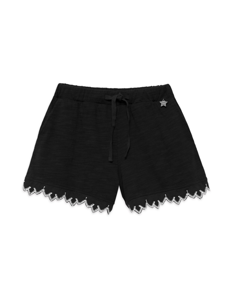 Embroidered lace edging shorts for girls