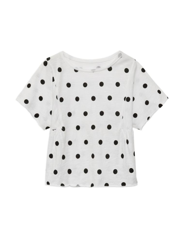 Camiseta topos algodón orgánico niña