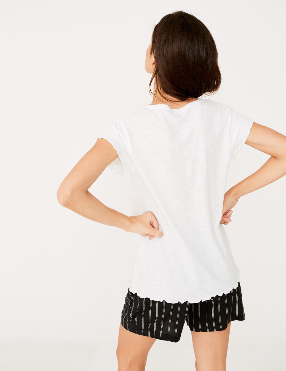 Camiseta manga corta flamé - Ítem1