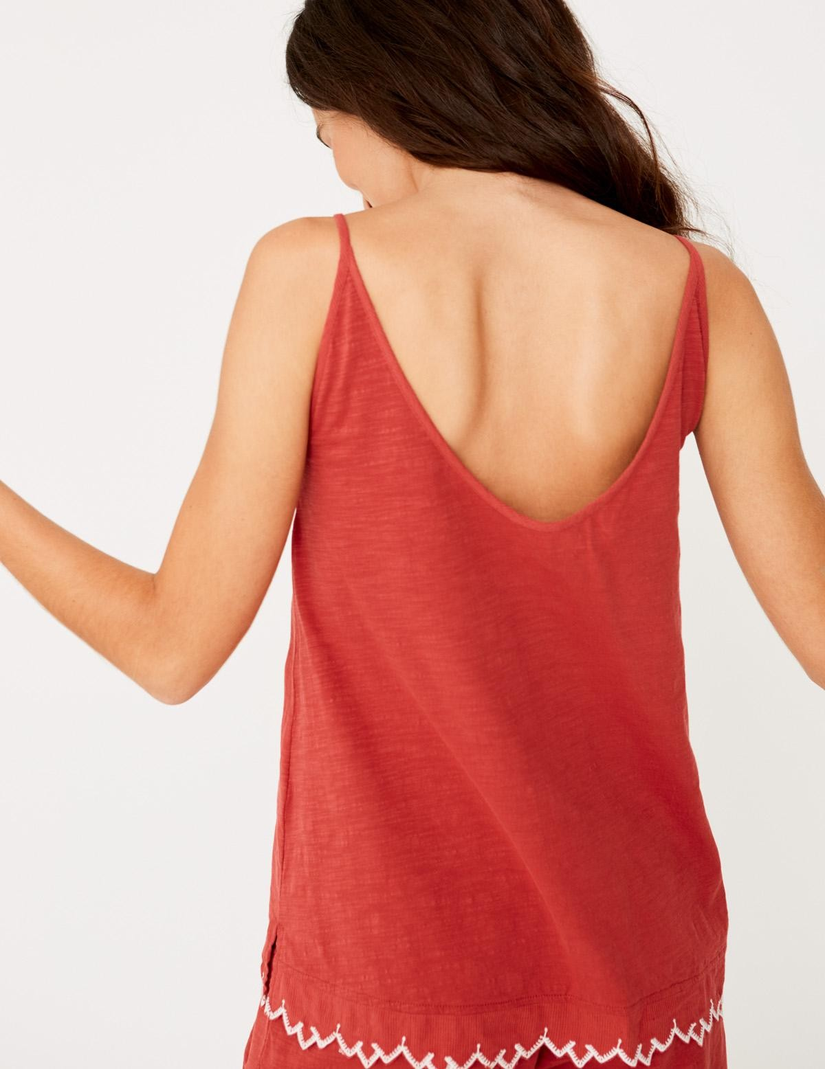 Camiseta puntilla bordada - Ítem1