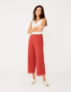 Embroidered hem trousers - Item