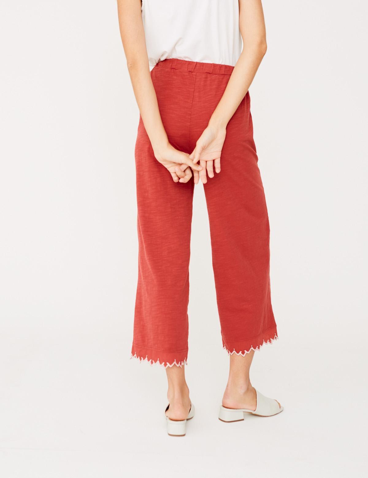 Pantalón bordado en el bajo - Ítem1