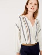 Camisa jacquard y bordado