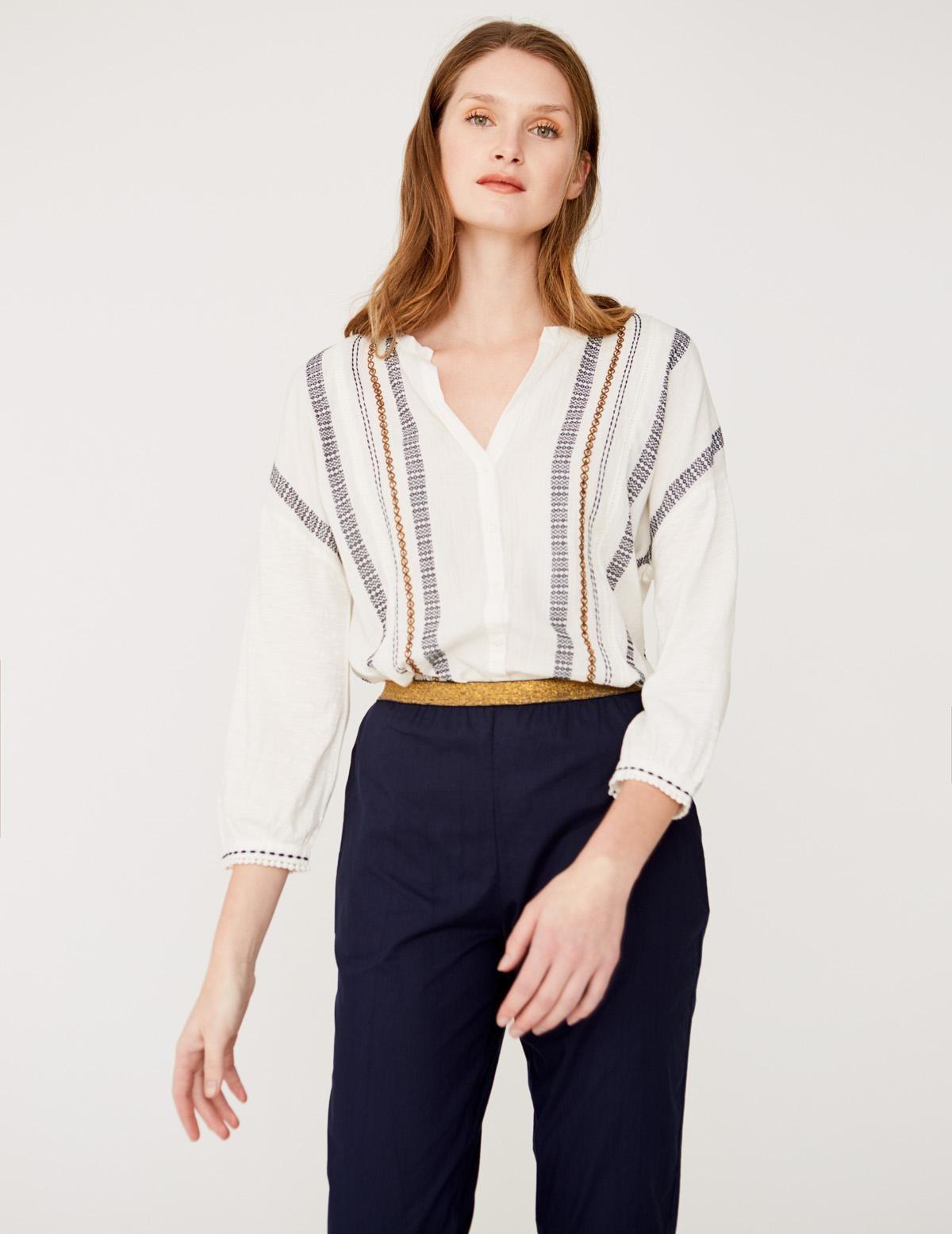 Camisa jacquard y bordado - Ítem2