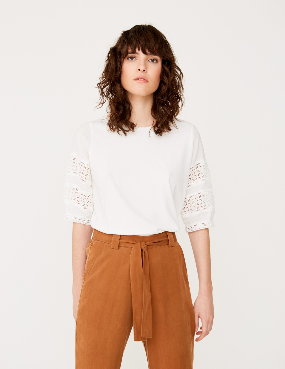 Lace edging detail top