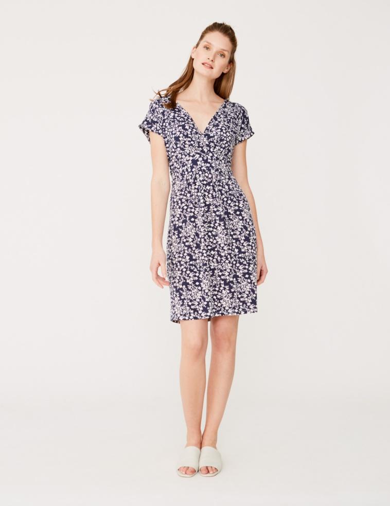Crossed neckline dress