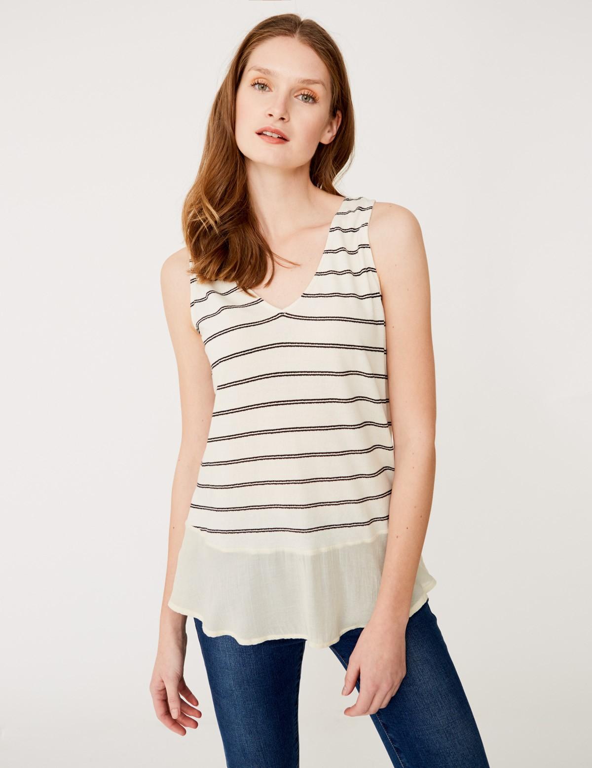 Camiseta sin mangas rayas