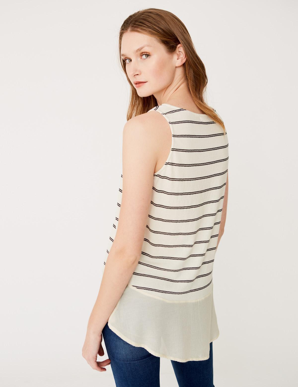Camiseta sin mangas rayas - Ítem1