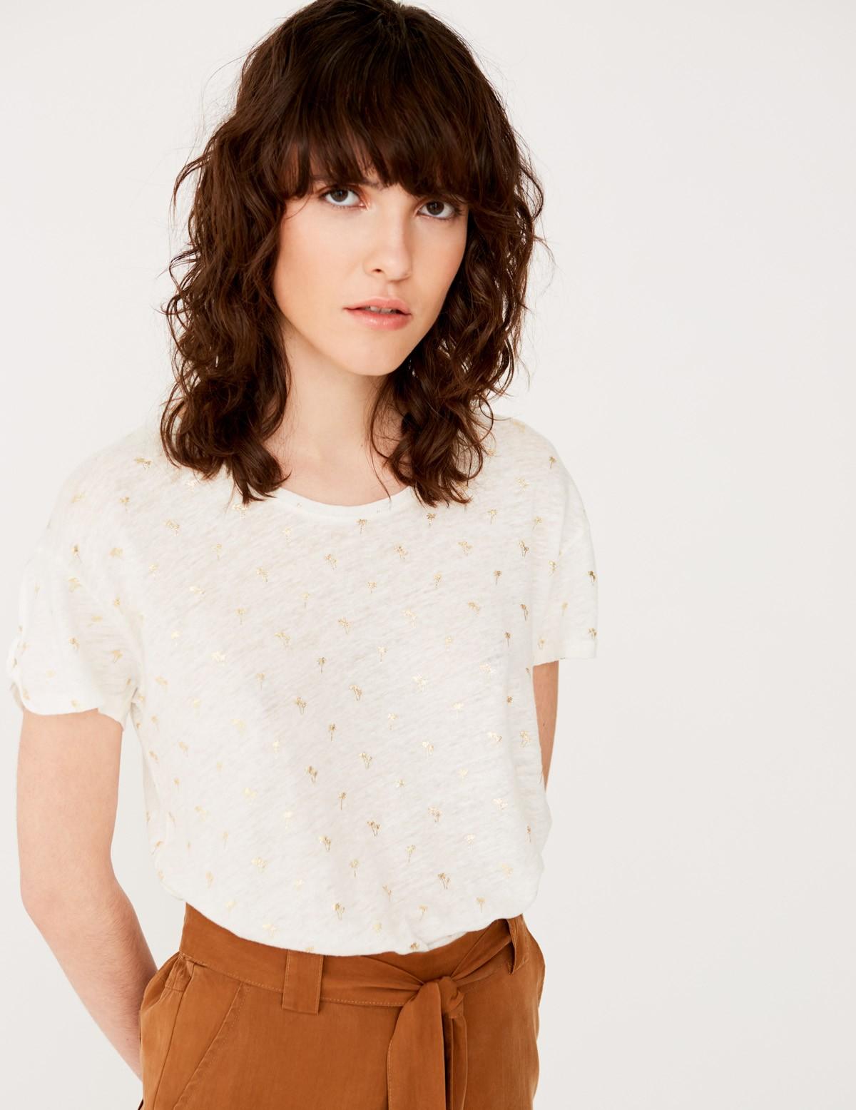 Camiseta palmeras foil